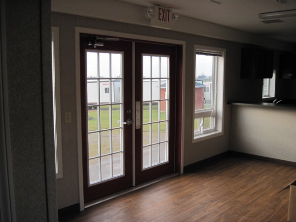 French doors as entrance